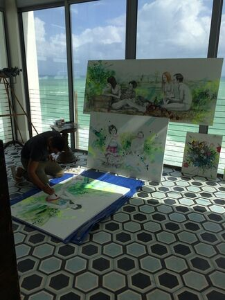 Baccanalia: Paintings by Christian Curiel at The Soho Beach House Miami, installation view