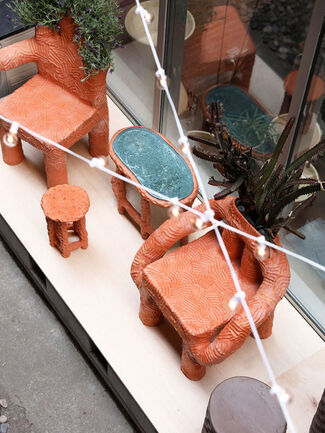 """GARDEN PARTY"" By Chris Wolston, installation view"