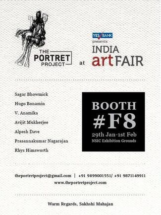The Portret Project at India Art Fair 2015, installation view