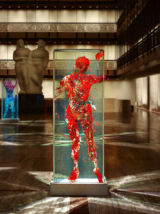 New York City Ballet Art Series Presents Dustin Yellin, installation view