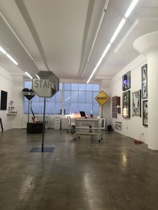 """""""Images vs. Words"""" Wallspace Inaugural Show at new location at the Bendix Building, installation view"""