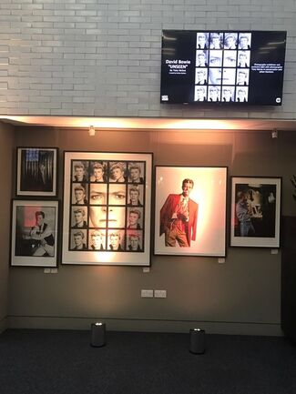"""Tony McGee - David Bowie """"UNSEEN"""" at Warner Music HQ, installation view"""