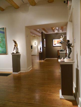 Three Artists Display Emotion through Bronze Figurative Sculpture, installation view
