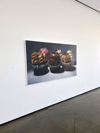 """Margaret Morrison featured in """"A La Carte: A Visual Exploration of Our Relationship With Food"""" at AEIVA/ Abroms-Engel Institute for the Visual Arts Birmingham, AL, installation view"""
