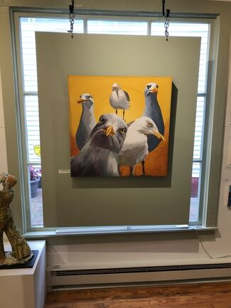 """Art Exhibition """"For the Birds"""", installation view"""