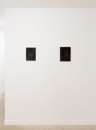 """ASGER DYBVAD LARSEN """"a branch in relation to another"""", installation view"""
