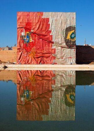 El Anatsui and Rachid Koraïchi at Marrakech Biennale 6, installation view