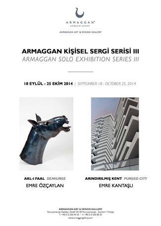 EMRE KANTAŞLI & EMRE ÖZÇAYLAN / PURGED CITY & DEMIURGED, installation view