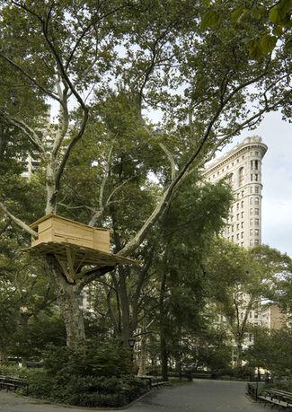 Tadashi Kawamata: Tree Huts, installation view