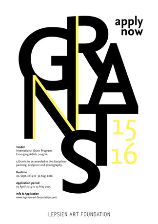 International Grant Program EMERGING ARTISTS 2015/16, installation view