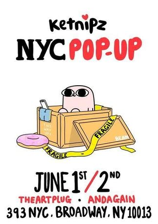 Ketnipz Exclusive Release & NYC Popup, installation view