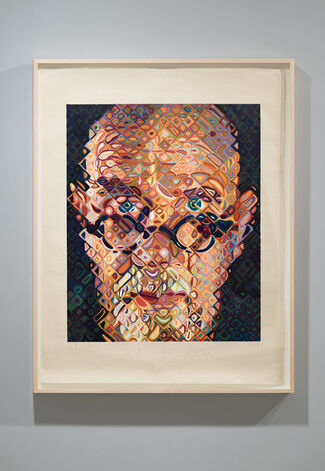 Chuck Close: Portraits of Artists, installation view