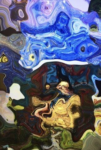 "Daniel Canogar ""The Amalgama Series Multiples"", installation view"