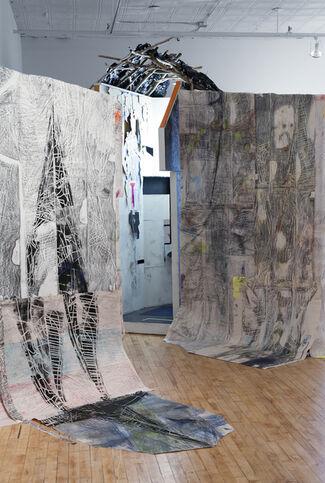 Lars van Dooren: vertical hallway and her attendants, installation view