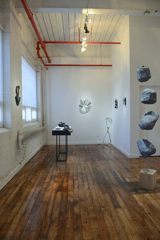 Melissa Brown - Gertrude's Nose and Elisa Lendvay - Moon of the Moon, installation view