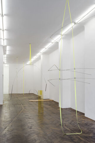 """Sarah Pichlkostner - KUY calls KAY: """"oh darling, we flying to the moon we need to save weight"""", installation view"""