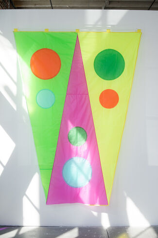 Ghost Flags and Flower Paintings, installation view