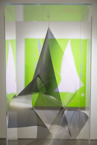 ATMOSPHERIC ABSTRACTION: Featuring Larry Bell, Gisela Colon, Mara De Luca and Heather Gwen Martin, installation view