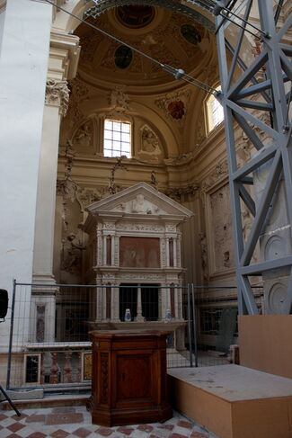 Archè - Bendini, Boille, Mariani, Turcato. Basilica di Santa Maria di Collemaggio, L'Aquila, installation view