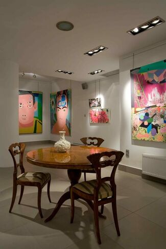 """Michail Parlamas """"Paintings 1998-2008"""", installation view"""