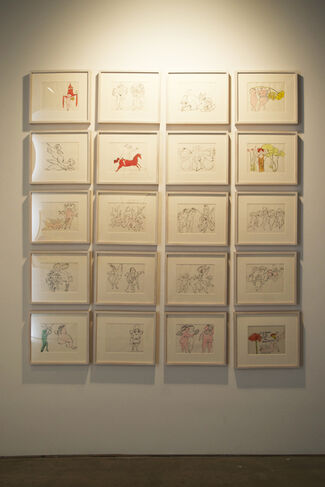 Survey Exhibition - Picasso, Warhol and Rauschenberg. Featuring Works by Philip Tsiaras, installation view