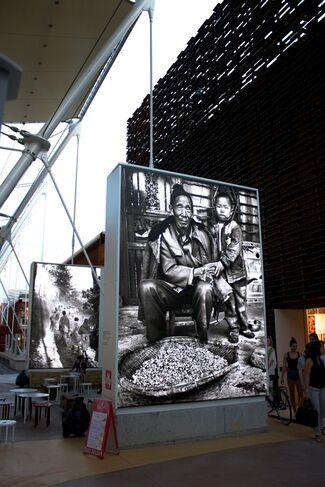 Marcello Mariani, Paths of Light. Photography by Gianni Berengo Gardin. Milano, EXPO, Italian Pavilion, installation view