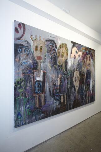 Aboudia,  Quitte le Pouvoir, installation view