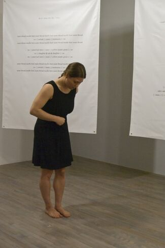 Reading the Line, installation view