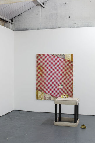 Under the Cloche or You Always Catch Me Napkin, installation view