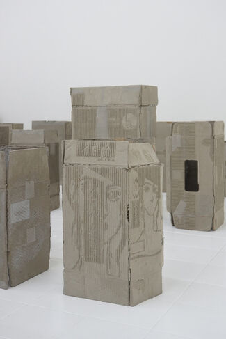 Sculptures, Readymades, Fossils, and infrathins, installation view