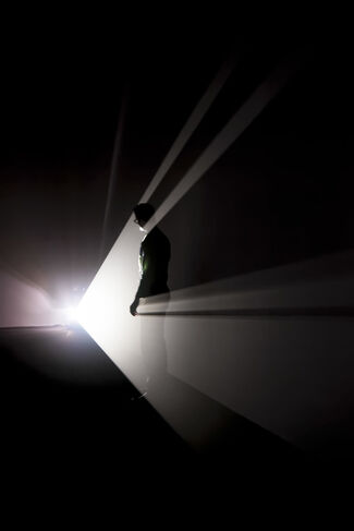 Anthony McCall, '1970s Solid-Light Works', installation view