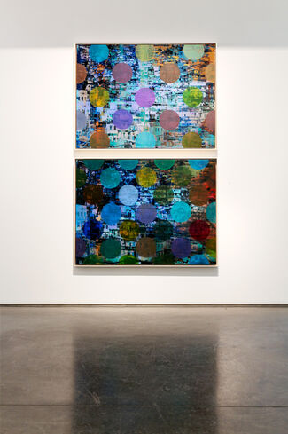 """Sarah Nind: """"Pistes et Points (Stripes and Dots)"""", installation view"""
