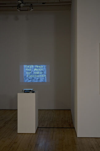 Mark Mahosky: Paper View / Anthony Campuzano: Slow Movies, installation view