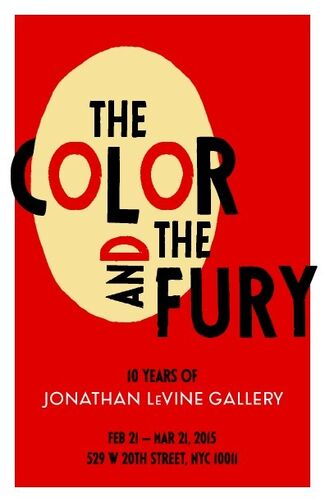 The Color and the Fury: 10 Years of Jonathan LeVine Gallery, installation view