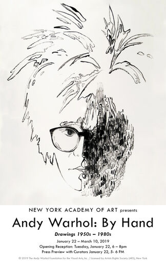 Andy Warhol: By Hand, Drawings 1950s-1980s, installation view