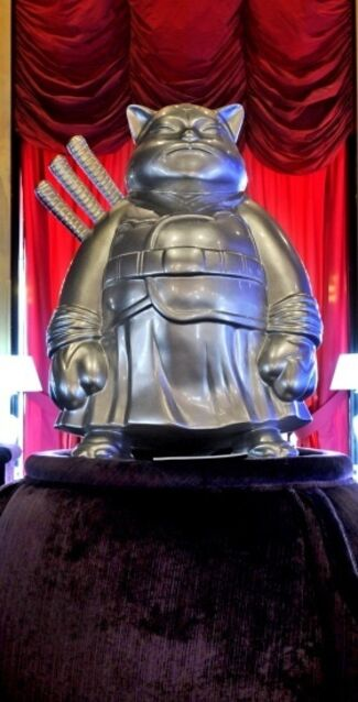 SamuraiCats in Buddha Bar Hotel in Paris , 4 Rue d'Anjou, 75008 Paris FRANCE, installation view