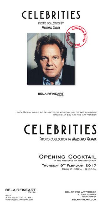 Celebrities, Photo collection by Massimo Gargia @Belairfineart Verbier Switzerland, installation view