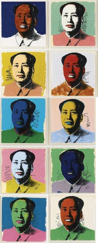 Andy Warhol, 'Chairman Mao (F&S II. 90-99)', 1972, Print, Screenprints on Beckett High White paper, Robin Rile Fine Art