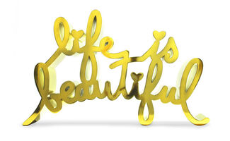 Mr. Brainwash, 'Life Is Beautiful-Hard Candy Yellow', 2020