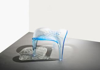 Stool ' Liquid Glacial' Light Blue