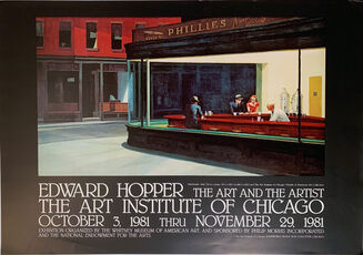 Nighthawks, Edward Hopper, The Art and the Artist Poster, Gallery Poster