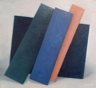 Enn Erisalu, 'Floating Forms 4 (Dark Blue Teal Cobalt Pink)', ca. 1986