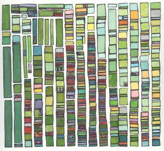 Laurie Frick, 'Portrait Test Pattern Green', 2014