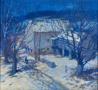 George William Sotter, 'Winter Night (Artist's Studio)'