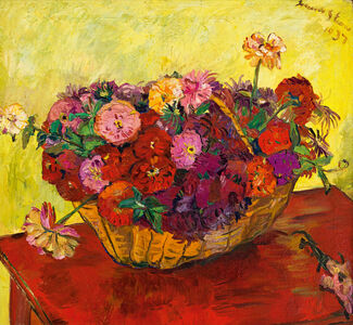 Irma Stern, 'Still Life with Basket of Flowers', 1937