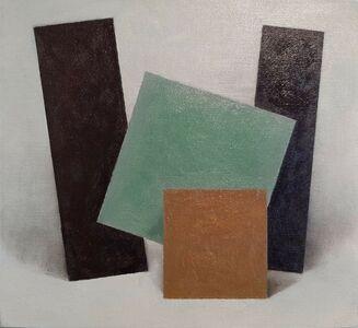 Enn Erisalu, 'Floating Forms 4 (Black Green Brown Black)', ca. 1986