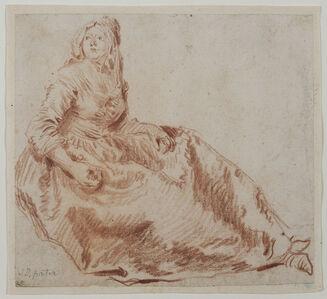 Jean-Baptiste Joseph Pater, 'Study of a Seated Woman', 1730