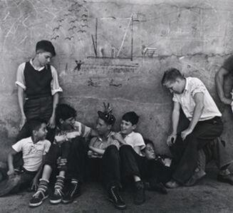 John Gutmann, 'Street Boys with Graffiti, San Francisco', 1937-printed later