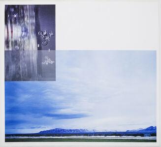 John Baldessari, 'Overlap Series: Double Motorcyclists and Landscape (Icelandic)', 2003