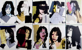 Andy Warhol, 'Mick Jagger Postcards', 1975